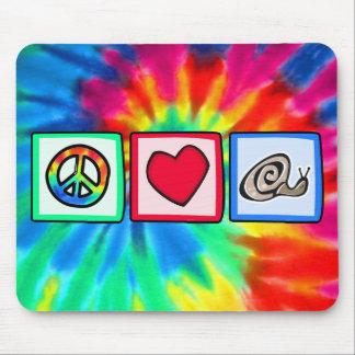 Peace Love Snails Mouse Pads