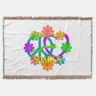 Peace Love Snakes Throw Blanket