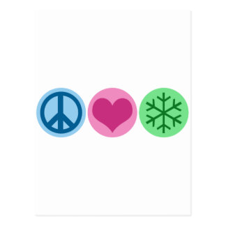 Peace Love Snow Post Cards
