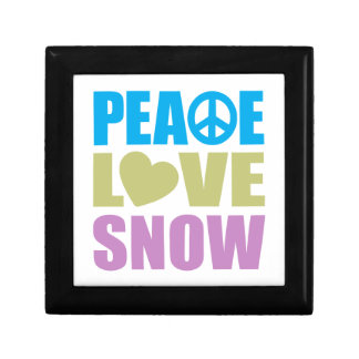 Peace Love Snow Small Square Gift Box