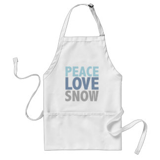 Peace Love Snow Tees Gifts Apron