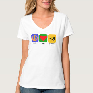 Peace Love Snowboarding T-Shirt
