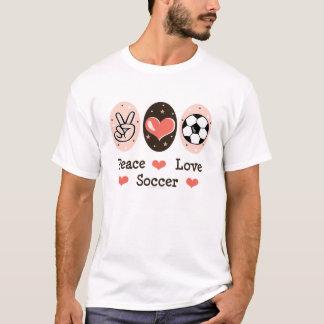 Peace Love Soccer Baby Kid shirt