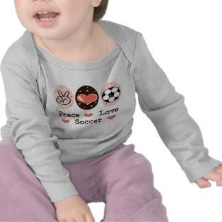 Peace Love Soccer Baby Long Sleeve T shirt
