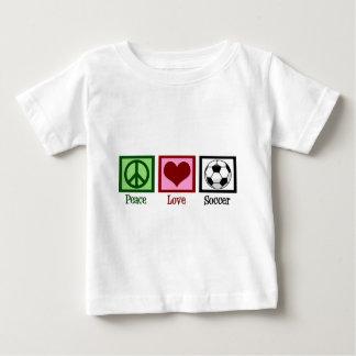 Peace Love Soccer Baby T-Shirt