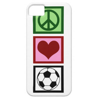 Peace Love Soccer Barely There iPhone 5 Case