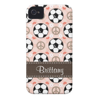 Peace Love Soccer Blackberry Bold Case