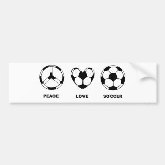 Peace Love Soccer Bumper Sticker
