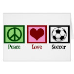 Peace Love Soccer Greeting Card
