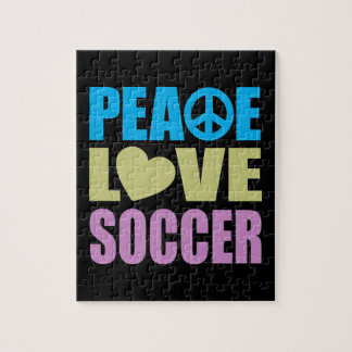 Peace Love Soccer Jigsaw Puzzle