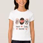Peace Love Soccer Kid T shirt