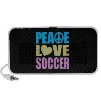 Peace Love Soccer Notebook Speaker