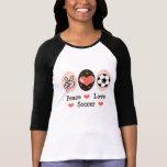Peace Love Soccer Raglan T shirt