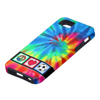 Peace, Love, Soccer Tough iPhone 5 Case