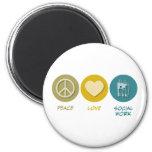 Peace Love Social Work Fridge Magnets