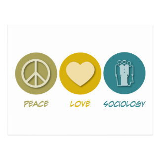Peace Love Sociology Postcard