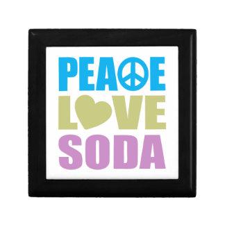 Peace Love Soda Small Square Gift Box