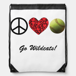 Peace Love Softball Backpack