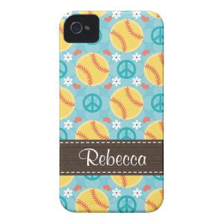 Peace Love Softball Blackberry Bold Case Cover