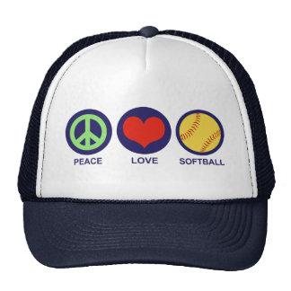Peace Love Softball Cap