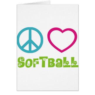 Peace Love Softball Card