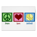 Peace Love Softball Greeting Card