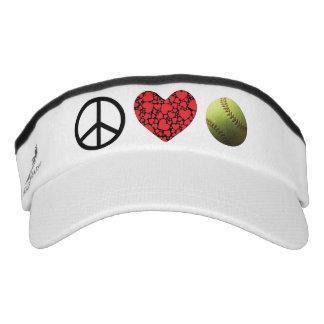 Peace Love Softball Life Visor