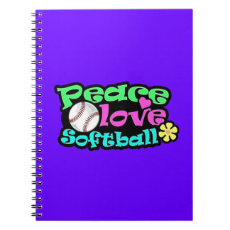 Peace, Love, Softball Notebook