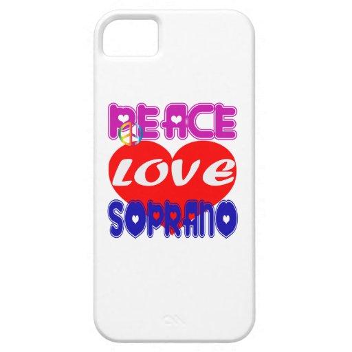 Peace Love Soprano iPhone 5/5S Cover