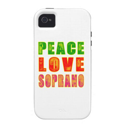 Peace Love Soprano Vibe iPhone 4 Cases