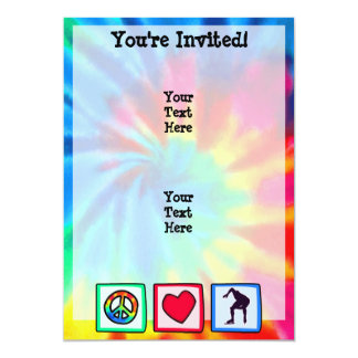 Peace, Love, Speed Skating 13 Cm X 18 Cm Invitation Card