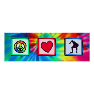 Peace, Love, Speed Skating Poster