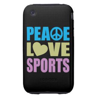 Peace Love Sports Tough iPhone 3 Case