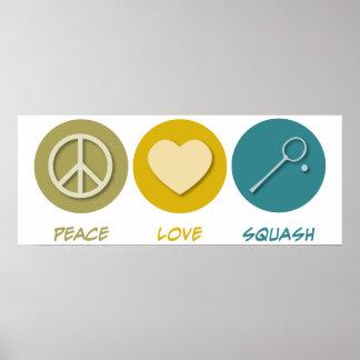 Peace Love Squash Print