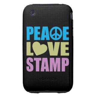 Peace Love Stamp iPhone 3 Tough Case