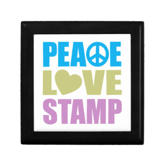 Peace Love Stamp Small Square Gift Box