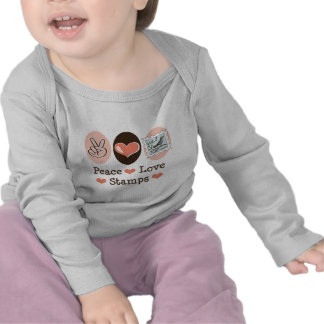 Peace Love Stamps Postage Stamp Baby Long Sleeve T Tshirt