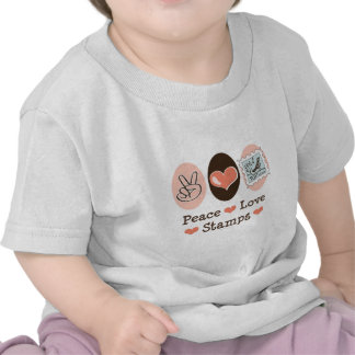 Peace Love Stamps Postage Stamp Baby T shirt