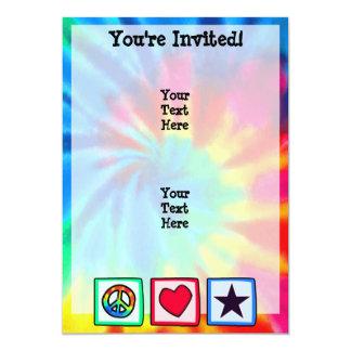 Peace, Love, Stars 13 Cm X 18 Cm Invitation Card