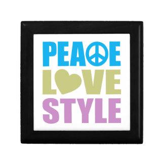 Peace Love Style Jewelry Box