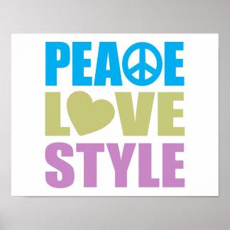 Peace Love Style Print