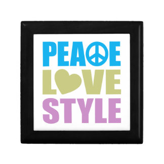 Peace Love Style Small Square Gift Box