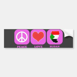 Peace Love Sudan Bumper Sticker