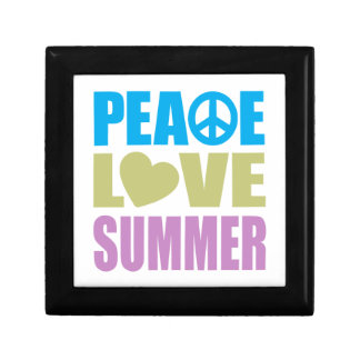 Peace Love Summer Small Square Gift Box