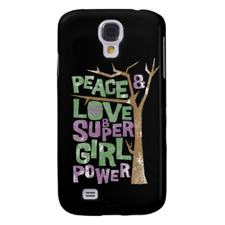 Peace Love & Supergirl Power Galaxy S4 Case