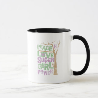 Peace Love & Supergirl Power Mug