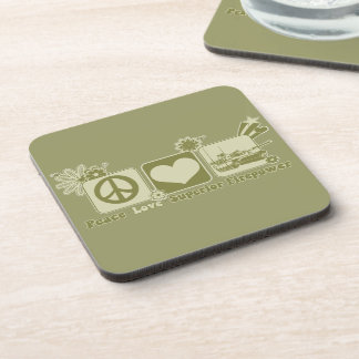 Peace Love Superior Firepower Drink Coasters