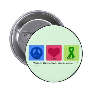 Peace Love Support Pins