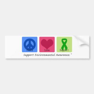 Peace Love Support Environment Bumper Sticker