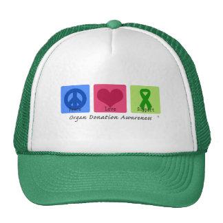Peace Love Support Trucker Hat